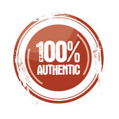 100% authentic — Stock Vector