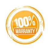 100% Warranty — Stock Vector