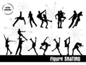 Figure Skating — Stock Vector