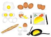 Receipe of egg — Stock Vector