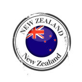 Stamp New Zealand — Stock Vector