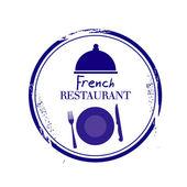French Restaurant — Stock Vector