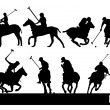 Polo silhouettes — Stock Vector
