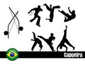 Capoeira Silhouettes — Stock Vector