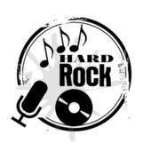 Stamp Hard Rock — Stock Vector