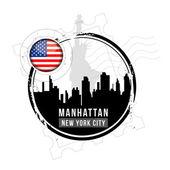Manhattan, NYC — Stock Vector