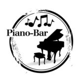 Stamp Piano-Bar — Stock Vector