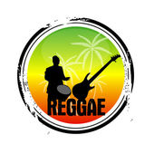 Stamp Reggae — Stock Vector