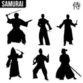 Samurai — Stock Vector