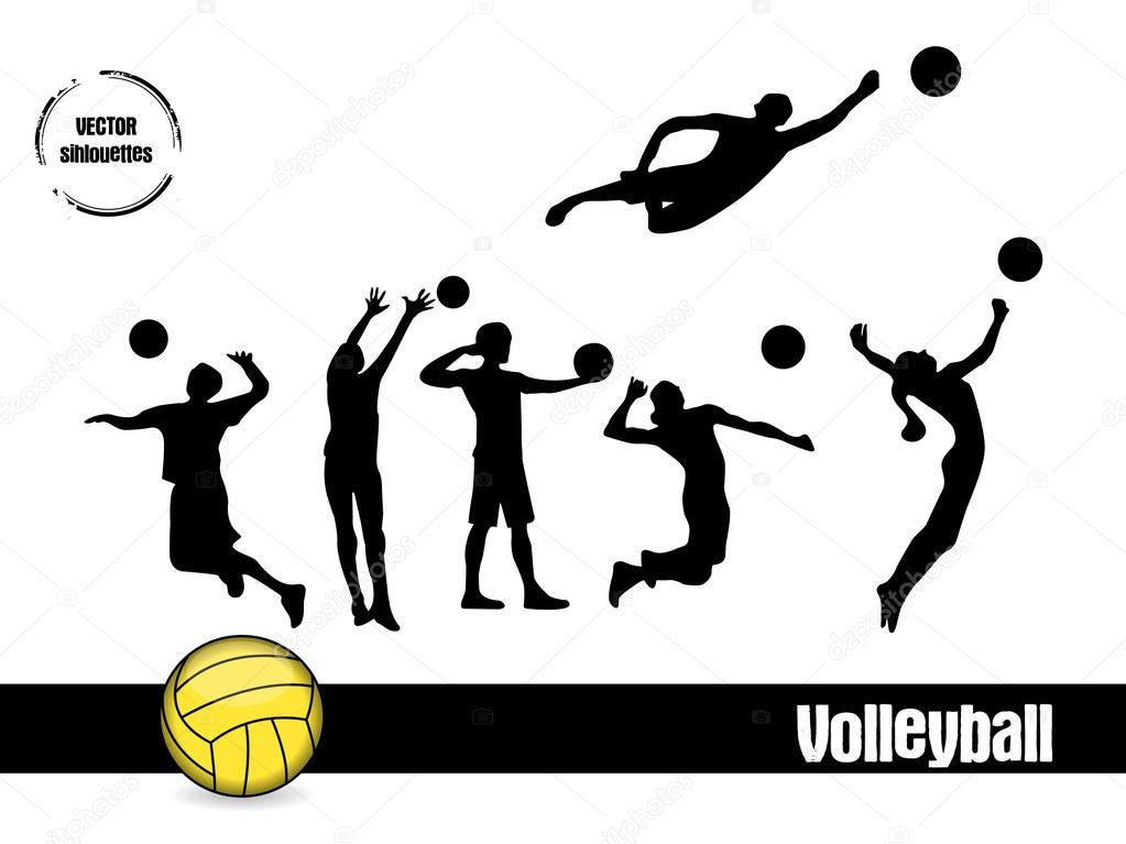 Illustration Abstract Volleyball Player Silhouette: Stock Vector © Jennyb79 #19315539