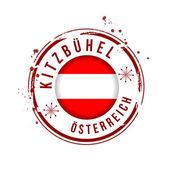 Stamp Kitzbühel, Austria — Wektor stockowy
