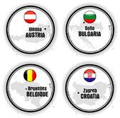 European stamps — Stock Vector