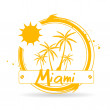 Stamp Miami — Stock Vector #26843689