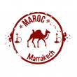 Stamp Marrakech — Stock Vector