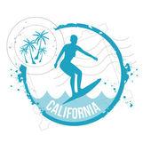 Stamp california — Stock Vector