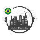 Stamp Sao Paulo — Stock Vector