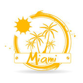 Stamp Miami — Stock Vector