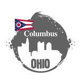 Stamp Columbus — Cтоковый вектор