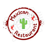 Stamp Mexican restaurant — Stock Vector