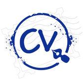 Stamp cv — Stock Vector