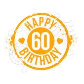 Stamp Birthday — Stock Vector