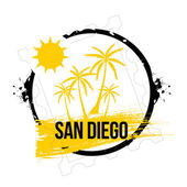 Stamp San Diego — Stock Vector