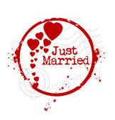 Recién casados — Vector de stock