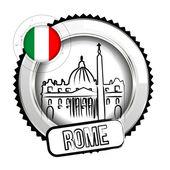 Medal Rome — Stock Vector
