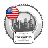Medal Los Angeles — Stock Vector