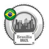 Medal Brazilia — Stock Vector