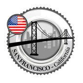 Медаль Сан-Франциско — Cтоковый вектор