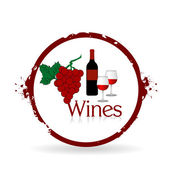 Stamp Wines — Stock Vector
