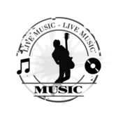 Stamp live music — Stock Vector