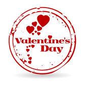 Stamp Valentine's day — Stock Vector
