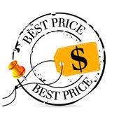 Stamp best price — Stock Vector