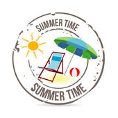 Stamp summer time — Stock Vector