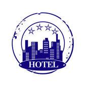 Stamp hotel — Stock Vector