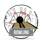 Stamp Bowling — Stock Vector