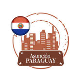 Stamp asuncion, capital of Paraguay — Stockvektor