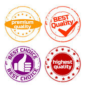 Stamp quality — Stock Vector