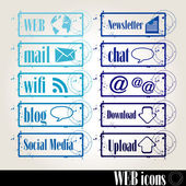 Briefmarken-web — Stockvektor