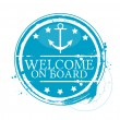 Welcome on board — Stock Vector