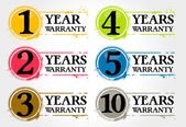 Stamps years warranty — Stock Vector