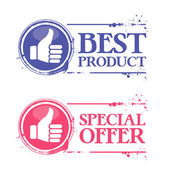 Stamp best product — Stock Vector
