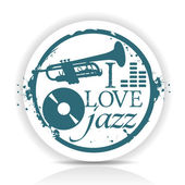 I love jazz — Stock Vector