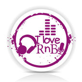 I love rnb — Stock Vector