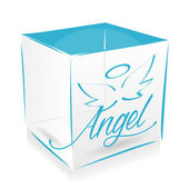 Cube angel's — Stock Vector