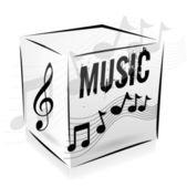 Cube music — Stock Vector