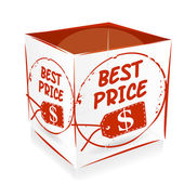 Icon best price — Stock Vector