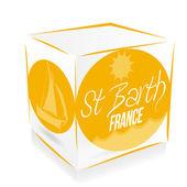 Cube saint barth' — Stock Vector